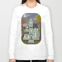 house Long Sleeve T-shirts featuring House by Fran Court