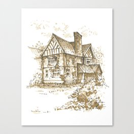 Country house. Sketch. Canvas Print