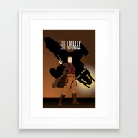 firefly Framed Art Prints featuring FIREFLY by booj