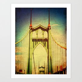 St. John's Bridge Portland Oregon Art Print