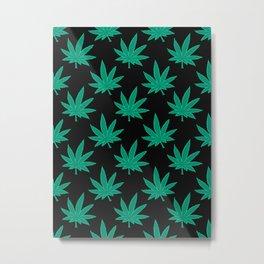 Weed Pattern 420 Metal Print