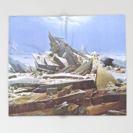 The Sea of Ice - Caspar David Friedrich Throw Blanket