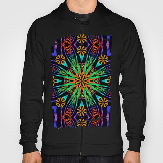 Colourful fantasy flower with tribal patterns Hoody