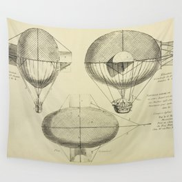Mathieu's Airship Project Wall Tapestry