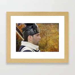 Historical french soldier Framed Art Print