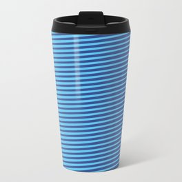 Eyes-challenging Lines (Royal/Pool) Travel Mug