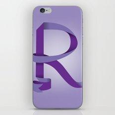 Alphabet R iPhone & iPod Skin