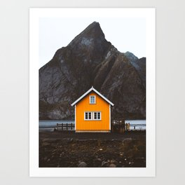 Yellow Cabin Art Print