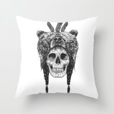 Dead shaman (b&w) Throw Pillow
