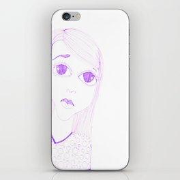 purple sadness1 iPhone Skin