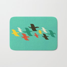 Birds are flying Bath Mat