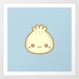 Yummy cute steamed bun Art Print
