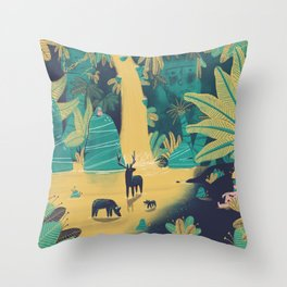 Peaceful getaway Throw Pillow