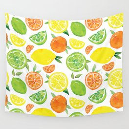 Citrus Pattern Wall Tapestry