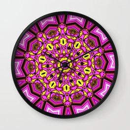 Abstract Paradise - Purple Arrow Wall Clock