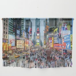 Times Square Tourists Wall Hanging