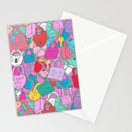 Love Locks Fence in Bright Multi Stationery Cards