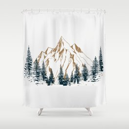 mountain # 4 Shower Curtain