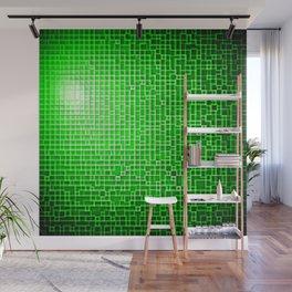 Green Pixels Wall Mural