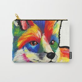 Fox - White Background Carry-All Pouch