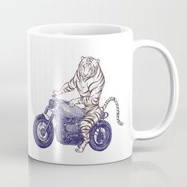 Tiger on a Motorcycle Coffee Mug