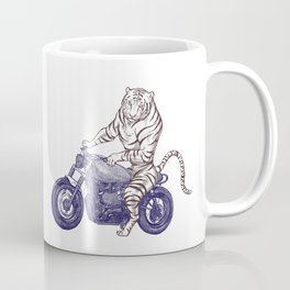 Tiger on a Motorcycle Coffee Mug