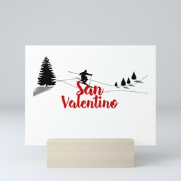 Ski at San Valentino Mini Art Print