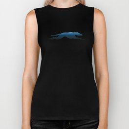Line Gradient Greyhound Biker Tank