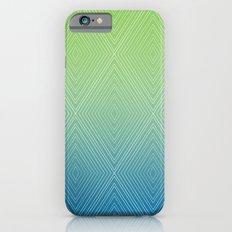 Diamonds (GreenFlashSnorkelBlue Fade) Slim Case iPhone 6