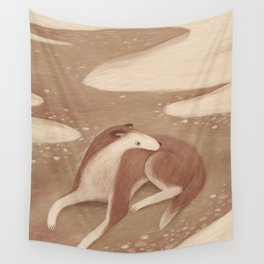 Sandy Dog Wall Tapestry