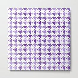 AFE Violet Houndstooth Pattern Metal Print
