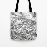 silver Tote Bags featuring Silver by Roscoe
