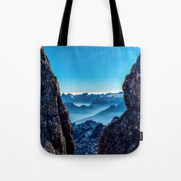 Moutain sky ice blue Tote Bag