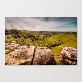View from Malham Cove Canvas Print