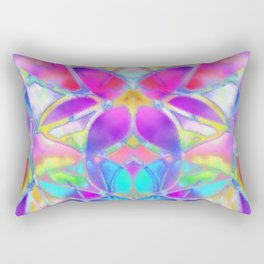 Floral Fractal Art G307 Rectangular Pillow