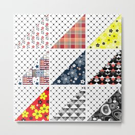 Multi-colored patchwork Metal Print