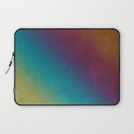 Bohek Bubbles on Rainbow of Color - Ombre multi Colored Spheres Laptop Sleeve