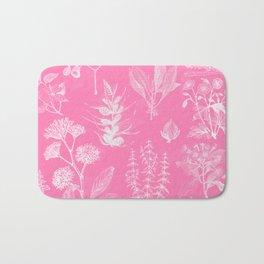Hot Pink Floral Bath Mat
