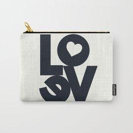 Love, tyopgraphy illustration, gift for her, people in love, be my Valentine, Romantic lettering Carry-All Pouch