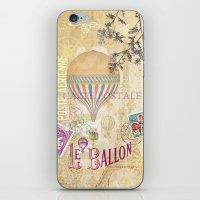 ballon iPhone & iPod Skins featuring Le Ballon by Hans Duenas