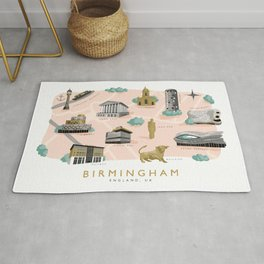 Birmingham Map Rug