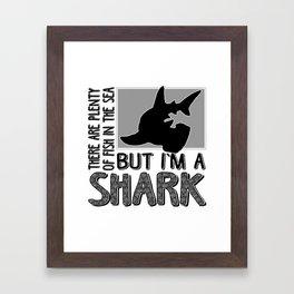 Sharktopian Denticles Framed Art Print