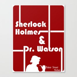 Baker Street Babes: Holmes and Watson Canvas Print