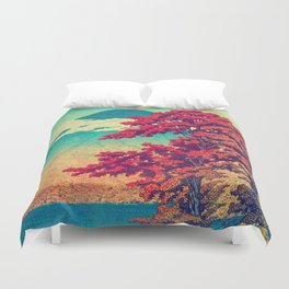 The New Year in Hisseii Duvet Cover
