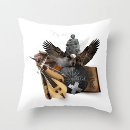 19 // 22 (Totem of the Eagle) Throw Pillow