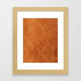N91 - HQ Original Moroccan Camel Leather Texture Photography Framed Art Print