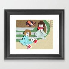 Cards Framed Art Print