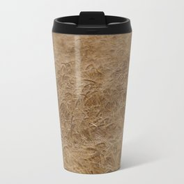 natural nature golden wheat field texture pattern Travel Mug
