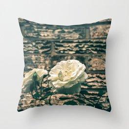 The moody garden flowers Throw Pillow