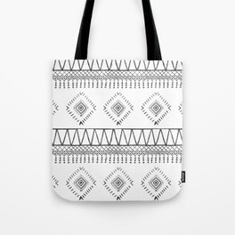 Gray Boho Aztec Tote Bag
